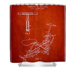 Exercise Machine Patent From 1953 - Red Shower Curtain