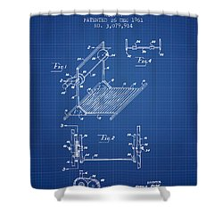 Exercise Machine Patent From 1961 - Blueprint Shower Curtain