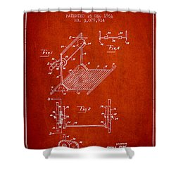 Exercise Machine Patent From 1961 - Red Shower Curtain