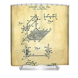 Exercise Machine Patent From 1961 - Vintage Shower Curtain