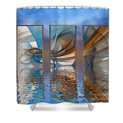 Exhibition Under The Sky Shower Curtain