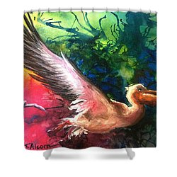 Exhilarated - Original Sold Shower Curtain