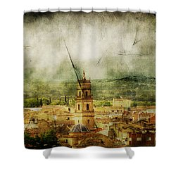 Existent Past Shower Curtain by Andrew Paranavitana