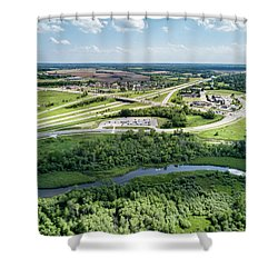Shower Curtain featuring the photograph Exit 43 by Randy Scherkenbach