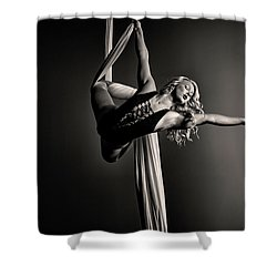 Exit Stage Right Shower Curtain