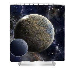 Exosolar Worlds Shower Curtain