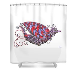 Exotic Bird V Shower Curtain