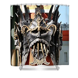 Exotic Chinese Mask Shower Curtain
