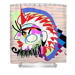 Exotic Mask Shower Curtain