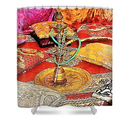 Exotic Oriental Hookah Pipe 2 Shower Curtain