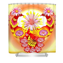Exotic Peacocks Shower Curtain