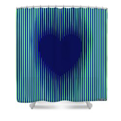 Expanding Heart 2 Shower Curtain