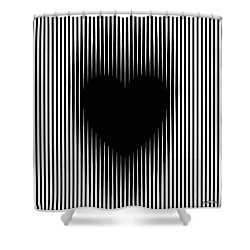 Expanding Heart Shower Curtain