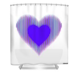 Expanding - Shrinking Heart Shower Curtain