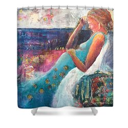 Expecting Shower Curtain by Gail Butters Cohen
