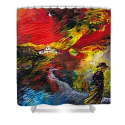 Expelled From The Land Shower Curtain by Miki De Goodaboom