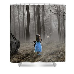 Shower Curtain featuring the mixed media Experiencing Something New by Marvin Blaine