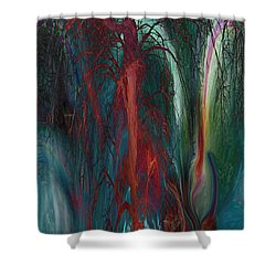 Experimental Tree Shower Curtain by Linda Sannuti