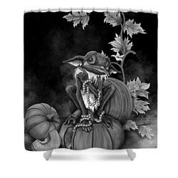 Explain Yourself - Black And White Fantasy Art Shower Curtain