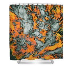 Exploded Fall Leaf Abstract Shower Curtain