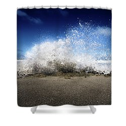 Exploding Seas Shower Curtain
