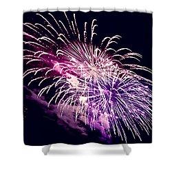 Exploding Stars Shower Curtain