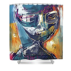 Exploration Shower Curtain by Russell Pierce