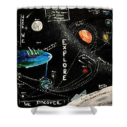 Explore And Discover Collector Edition Shower Curtain by Mandy Elliott
