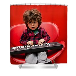 Exploring Piano Shower Curtain