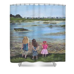 Exploring The Marshes Shower Curtain
