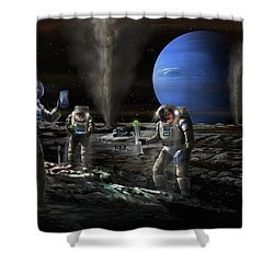 Exploring Triton Shower Curtain