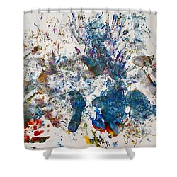 Explosion At The Macaroni Factory Shower Curtain