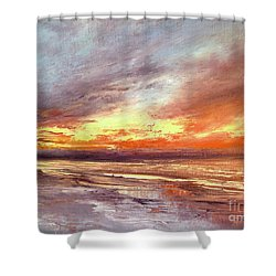 Explosion Of Light Shower Curtain by Valerie Travers
