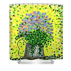 Explosive Flowers Shower Curtain by Alan Hogan