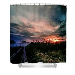 Explosive Morning #h0 Shower Curtain