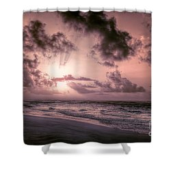 Explosive Sunrise On Ocracoke Outer Banks Shower Curtain