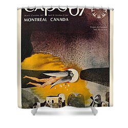 Expo 67 Shower Curtain by Andrew Fare