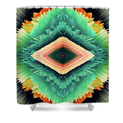 Shower Curtain featuring the photograph Exponential Flare by Colleen Taylor