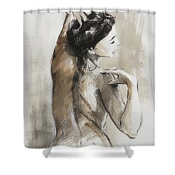 Shower Curtain featuring the painting Expression by Steve Henderson