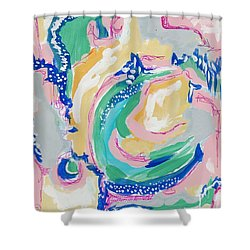 Expressive Abstract Pattern Shower Curtain