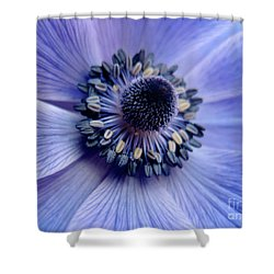 Expressive Blue And Purple Floral Macro Photo 706 Shower Curtain