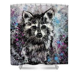 Expressive Raccoon Shower Curtain