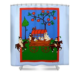 Shower Curtain featuring the painting Expulsion Of The Jews For M Spain by Stephanie Moore