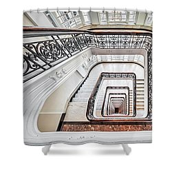 Shower Curtain featuring the photograph Exquisite Staircase Nyc  by Susan Candelario