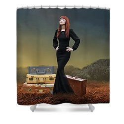Shower Curtain featuring the mixed media Extended Weekend by Marvin Blaine