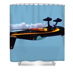 Extra 300s Stunt Plane Shower Curtain by DigiArt Diaries by Vicky B Fuller