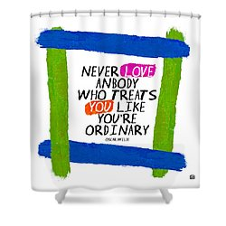 Shower Curtain featuring the painting Extraordinary Love II by Lisa Weedn