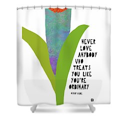 Shower Curtain featuring the painting Extraordinary Love by Lisa Weedn