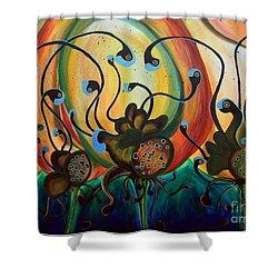 Extraterrestrial Flora Shower Curtain