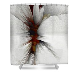 Shower Curtain featuring the digital art Sculptural Series Painting 51.072110windblscext1590l10110l by Kris Haas